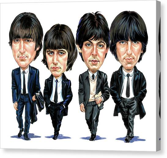 Music Canvas Print - The Beatles by Art