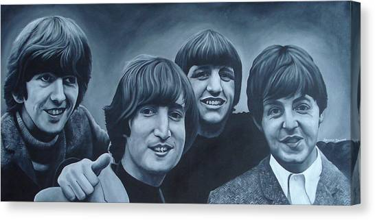 George Harrison Canvas Print - The Beatles by David Dunne