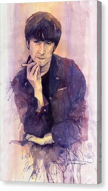 The Beatles Canvas Print - The Beatles John Lennon by Yuriy Shevchuk
