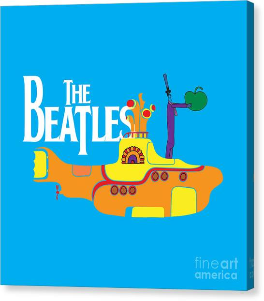 Music Canvas Print - The Beatles No.11 by Geek N Rock