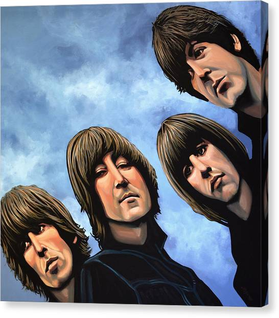 Paul Mccartney Canvas Print - The Beatles Rubber Soul by Paul Meijering