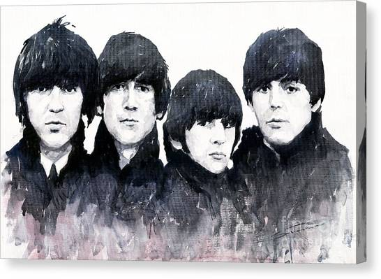 Pop Art Canvas Print - The Beatles by Yuriy Shevchuk
