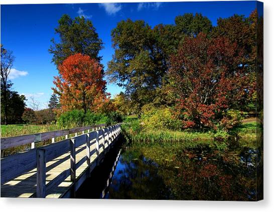 Cornell University Canvas Print - The Beautiful Autumn In Ithaca New York by Paul Ge