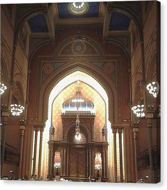 Judaism Canvas Print - The Beautiful Central Synagogue Of by Christopher M Moll