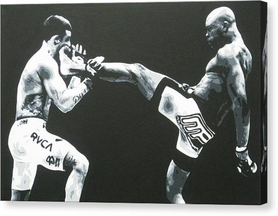 Mma Canvas Print - The Beautiful Kick by Geo Thomson