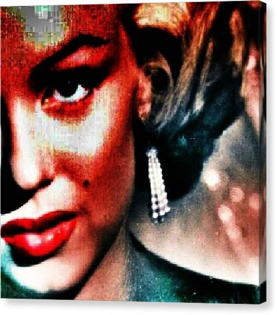 Marilyn Monroe Canvas Print - The Beautiful Marilyn Monroe #beautiful by Ant Jones
