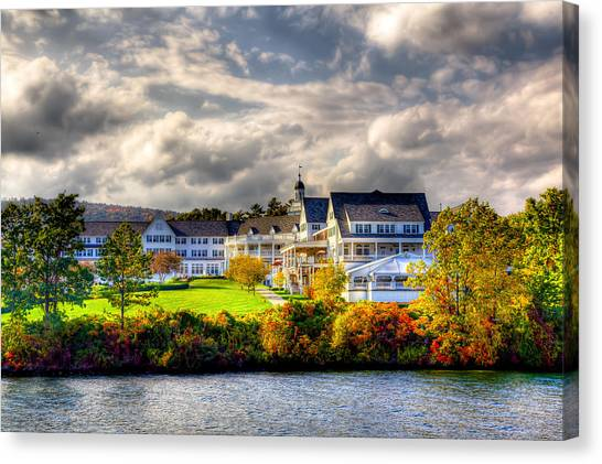 The Beautiful Sagamore Hotel On Lake George Canvas Print