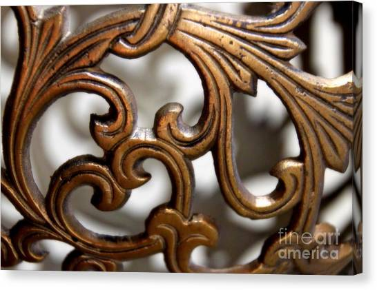 The Beauty Of Brass Scrolls 1 Canvas Print