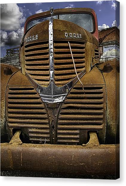 The Beauty Of Rust Canvas Print