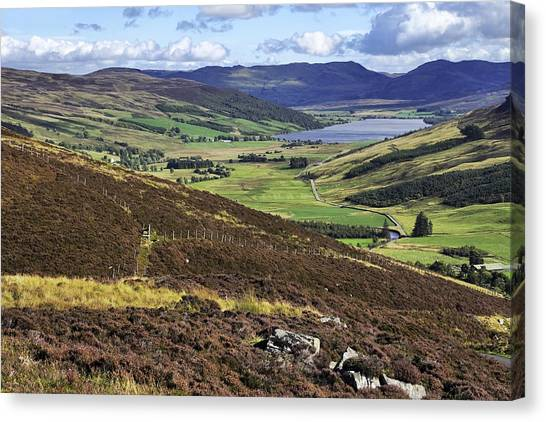The Beauty Of The Scottish Highlands Canvas Print