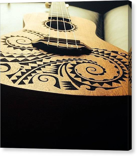 Ukuleles Canvas Print - The Beauty Of This Ukulele by Sierra  Christopher