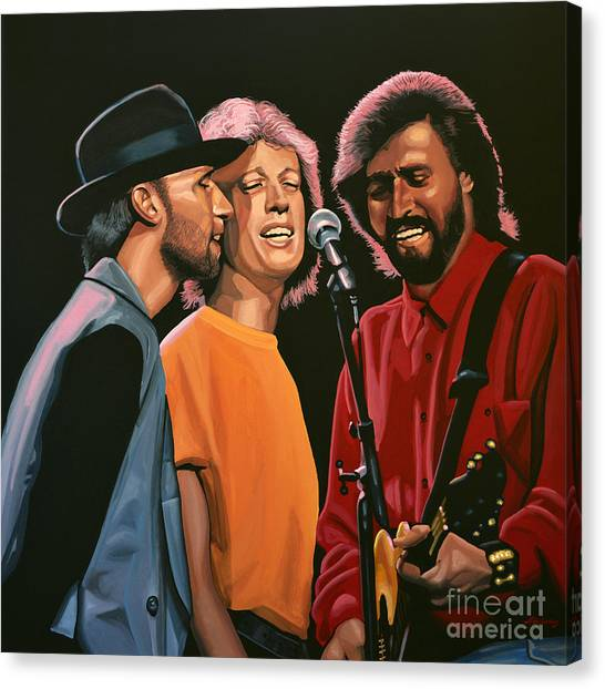 Concerts Canvas Print - The Bee Gees by Paul Meijering