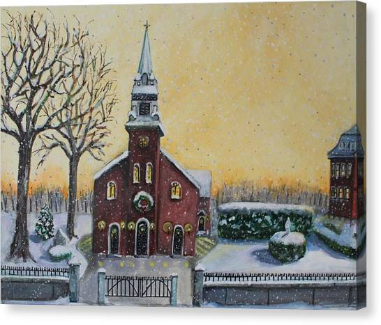 Church Bells Canvas Print - The Bells Of St. Mary's by Rita Brown