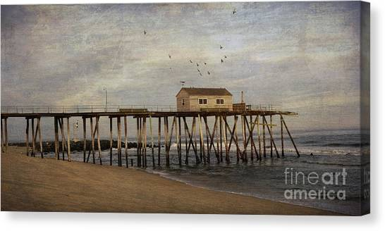 The Belmar Fishing Club Pier Canvas Print