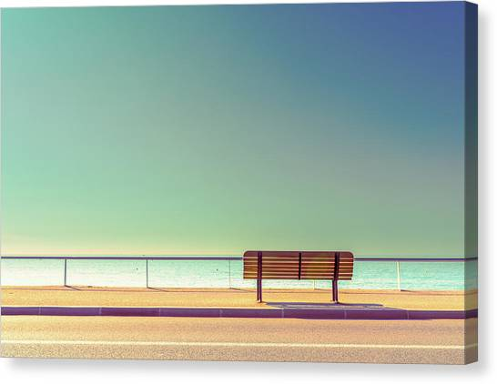 Lines Canvas Print - The Bench by Arnaud Bratkovic