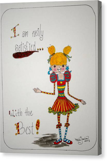 The Best Canvas Print by Mary Kay De Jesus