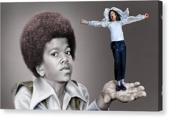 Michael Jackson Canvas Print - The Best Of Me - Handle With Care - Michael Jacksons by Reggie Duffie