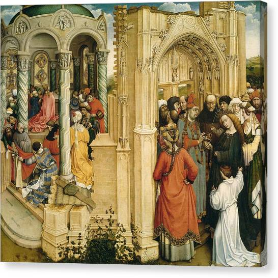 The Prado Canvas Print - The Betrothal Of The Virgin by Robert Campin
