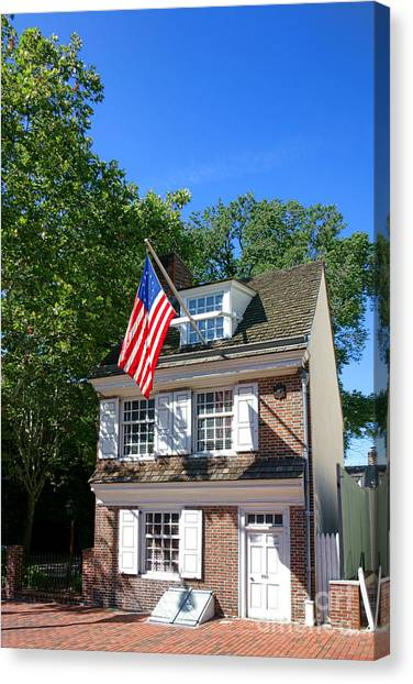 The Betsy Ross House Canvas Print