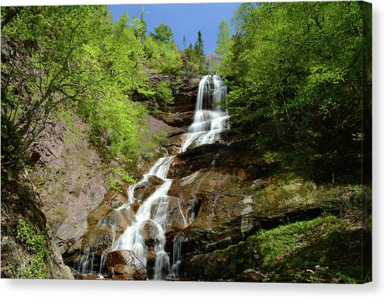 Cabot Trail Canvas Print - The Beulach Ban Waterfalls On The North by Darlyne A. Murawski