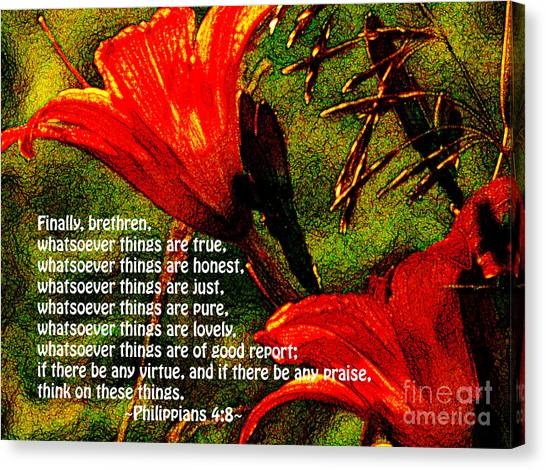 The Bible Philippians 4 Canvas Print