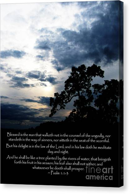 The Bible Psalm 1 Canvas Print