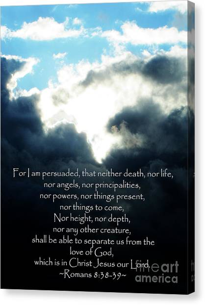 The Bible Romans 8 Canvas Print