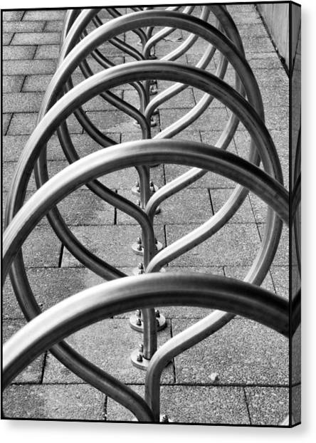 The Bicycle Rack Canvas Print