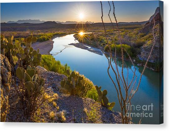 Rio Grande Canvas Print - The Big Bend by Inge Johnsson