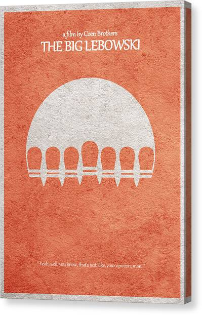 Bowling Ball Canvas Print - The Big Lebowski by Inspirowl Design