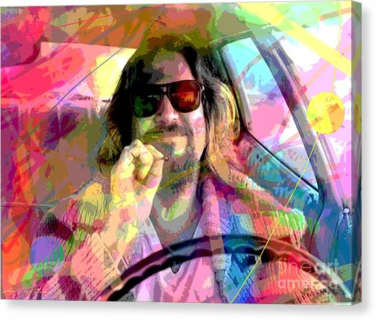 Marijuana Canvas Print - The Big Lebowski by David Lloyd Glover