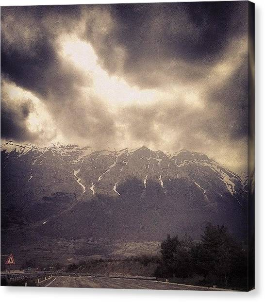 Big Sky Canvas Print - The #big #mountain by Marcello Valeri