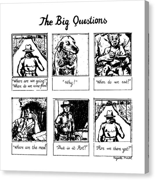Policeman Canvas Print - The Big Questions by Huguette Marte