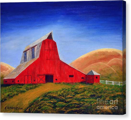The Big Red Barn Canvas Print