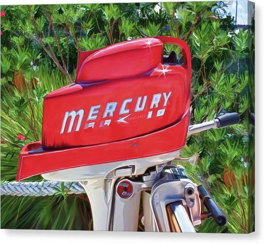 The Big Red Mercury Engine Canvas Print