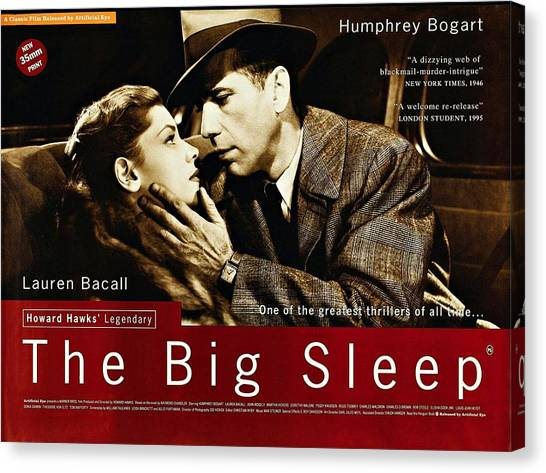 The Big Sleep  Canvas Print
