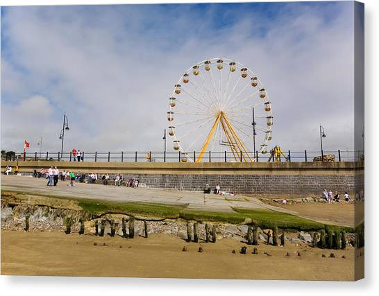 Waterford Canvas Print - The Big Wheel And Promenade, Tramore by Panoramic Images