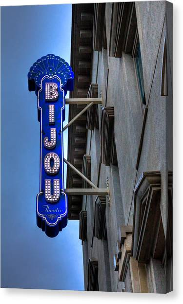 The Bijou Theatre - Knoxville Tennessee Canvas Print