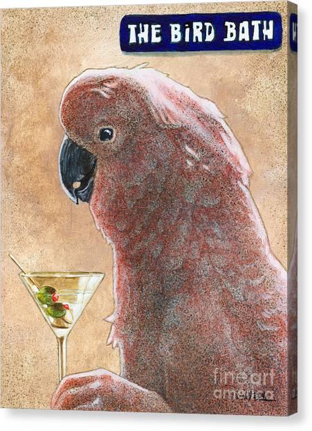 Cockatoos Canvas Print - The Bird Bath... by Will Bullas