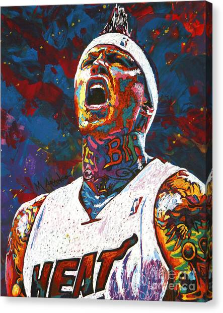 New Orleans Hornets Canvas Print - The Birdman by Maria Arango