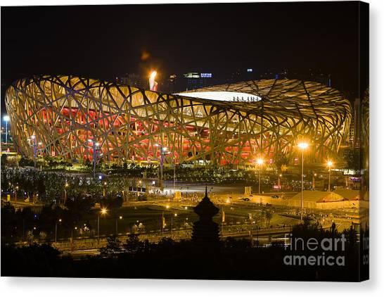 The Birds Nest Stadium China Canvas Print