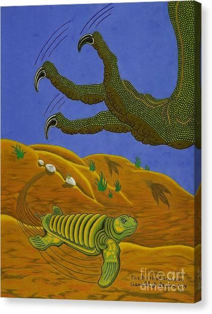 The Birth Of Archelon Canvas Print
