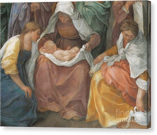Baroque Art Canvas Print - The Birth Of The Virgin by Guido Reni