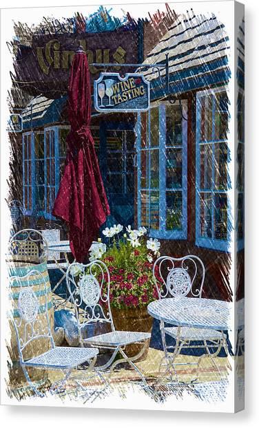 Coffee Plant Canvas Print - The Bistro 3 by Richard J Cassato