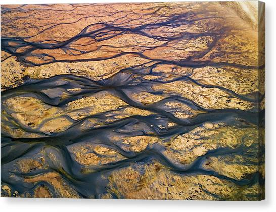 The Black Rivers Canvas Print by Faisal Alnomas