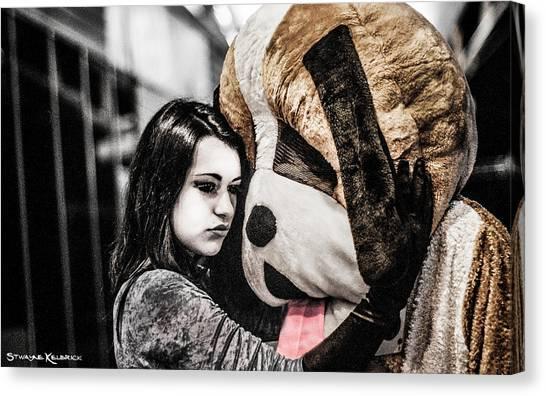 Canvas Print - The Black Widow And The Teddy Bear by Stwayne Keubrick
