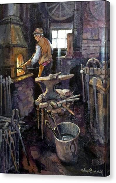 The Blacksmith Canvas Print by Richard McDiarmid