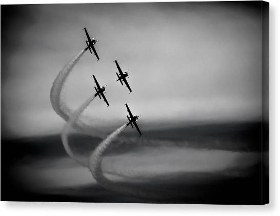 Canvas Print featuring the photograph The Blades In Formation Sunderland Air Show 2014 by Scott Lyons