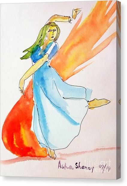 The Blazing Dancer Canvas Print