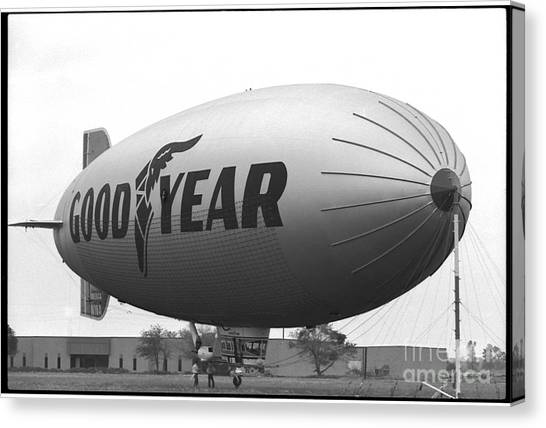 The Goodyear Blimp In 1979 Canvas Print
